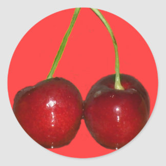 Cherries Round Sticker