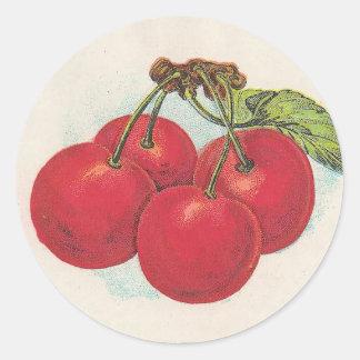 Cherries Round Sticker