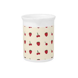 Cherries & Strawberries Pattern Pitcher