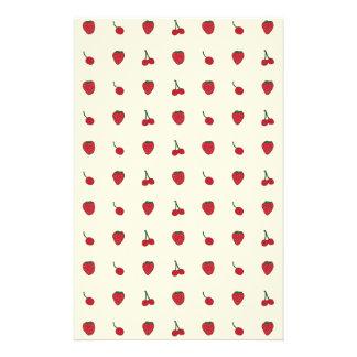 Cherries & Strawberries Pattern Stationery