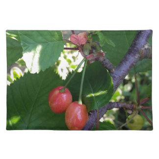 Cherries turning red placemat