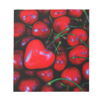cherries with heart love notepad