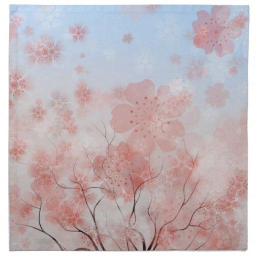 Cherrry Blossom Tree American MoJo Napkin