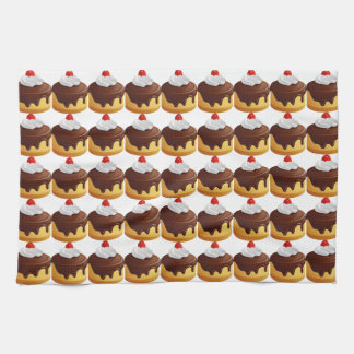 Cherry and Chocolate Topped Cake Towel