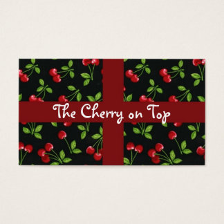 Cherry background business card