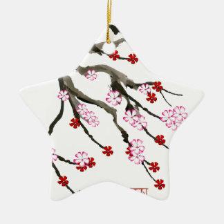 cherry blossom 10 Tony Fernandes Ceramic Ornament