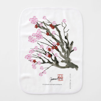 cherry blossom 11 Tony Fernandes Burp Cloth