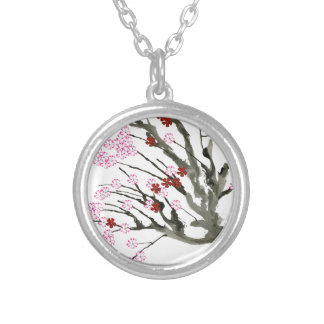 cherry blossom 11 Tony Fernandes Silver Plated Necklace