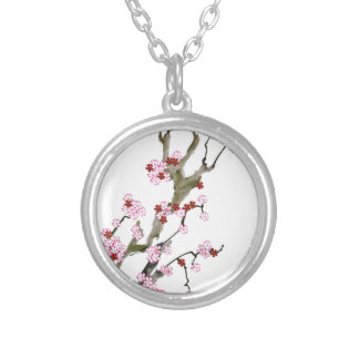 Cherry Blossom 16 Tony Fernandes Silver Plated Necklace