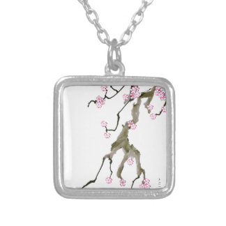 Cherry Blossom 17 Tony Fernandes Silver Plated Necklace