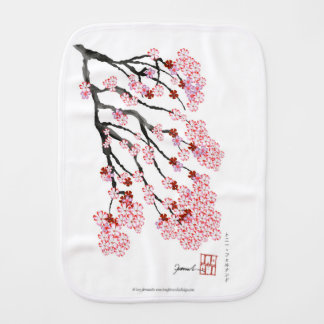 Cherry Blossom 18 Tony Fernandes Burp Cloth