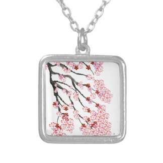 Cherry Blossom 18 Tony Fernandes Silver Plated Necklace