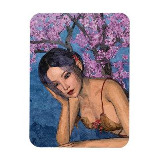 Cherry Blossom Beauty Rectangular Photo Magnet