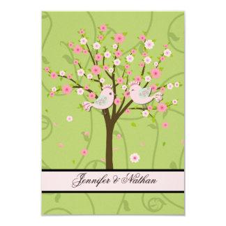 Cherry Blossom Birds RSVP Card