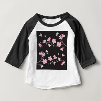 Cherry Blossom - Black Baby T-Shirt