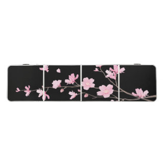 Cherry Blossom - Black Beer Pong Table