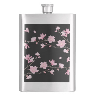 Cherry Blossom - Black Hip Flask