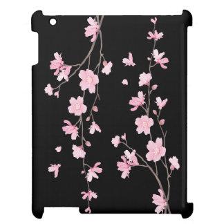 Cherry Blossom - Black iPad Cover