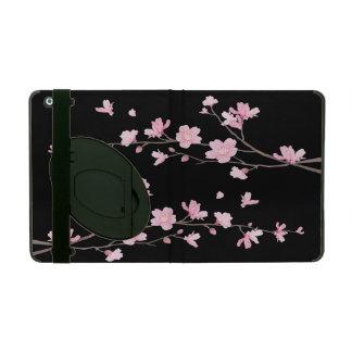 Cherry Blossom - Black iPad Folio Case