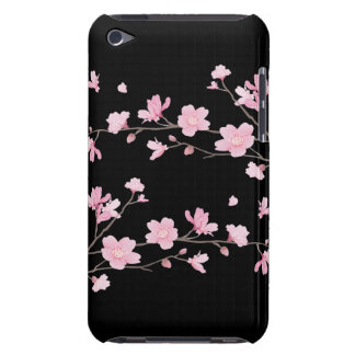 Cherry Blossom - Black iPod Touch Cases