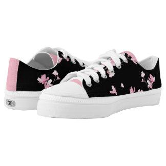 Cherry Blossom - Black Low Tops