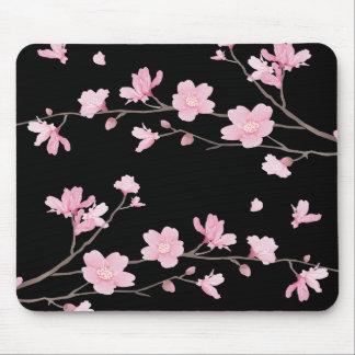 Cherry Blossom - Black Mouse Pad