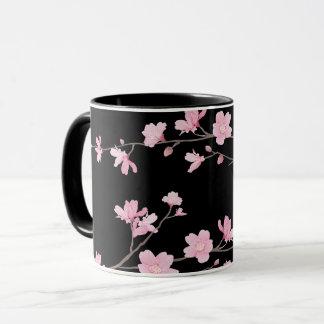 Cherry Blossom - Black Mug