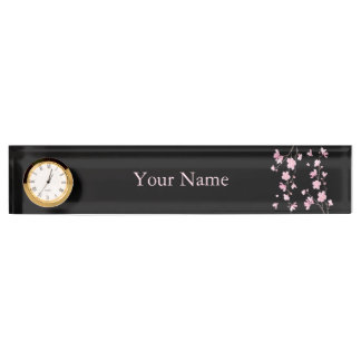 Cherry Blossom - Black Name Plate