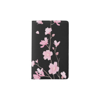 Cherry Blossom - Black Pocket Moleskine Notebook