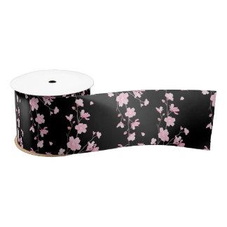 Cherry Blossom - Black Satin Ribbon