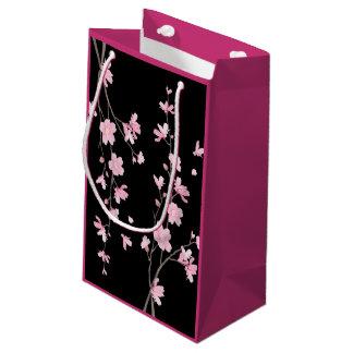Cherry Blossom - Black Small Gift Bag