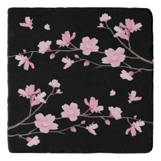 Cherry Blossom - Black Trivet