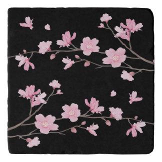 Cherry Blossom - Black Trivets