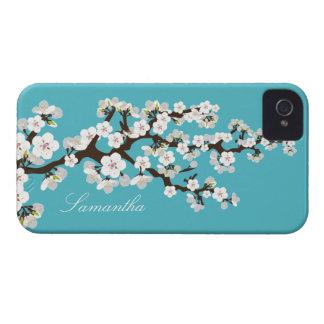 Cherry Blossom BlackBerry Bold Case aqua white