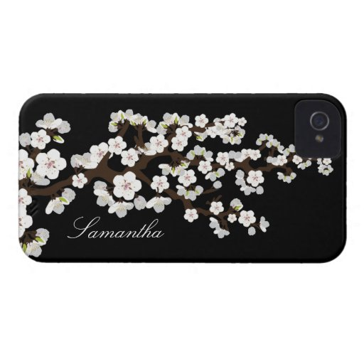Cherry Blossom BlackBerry Bold Case (black/white)