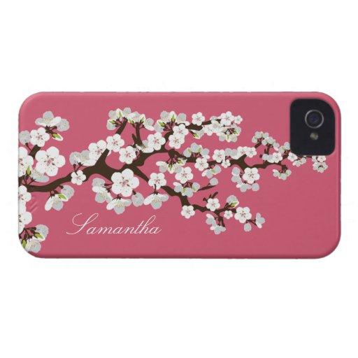 Cherry Blossom BlackBerry Bold Case (pink/white)