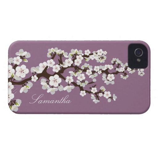 Cherry Blossom BlackBerry Bold Case (purple/white)
