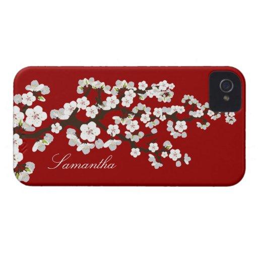 Cherry Blossom BlackBerry Bold Case (red/white)