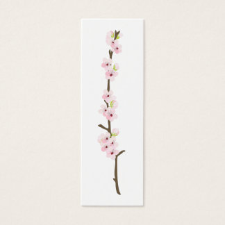 Cherry Blossom Branch Favour Tag (White)
