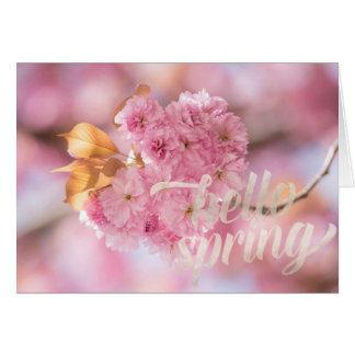 Cherry Blossom Branch Spring Text Card