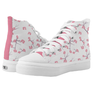 Cherry Blossom Branches Shoes Printed Shoes