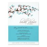 Cherry Blossom Bridal Shower Invitation (aqua)