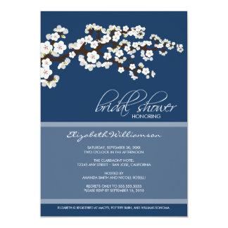 Cherry Blossom Bridal Shower Invitation (navy)