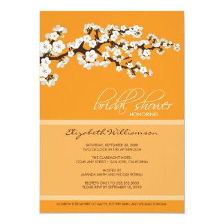 Cherry Blossom Bridal Shower Invitation (orange)