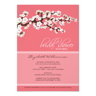 Cherry Blossom Bridal Shower Invitation (pink)