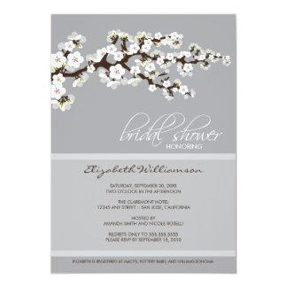 Cherry Blossom Bridal Shower Invitation (platinum)