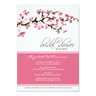 Cherry Blossom Bridal Shower Invitation (rose)