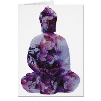 Cherry Blossom Buddha Card