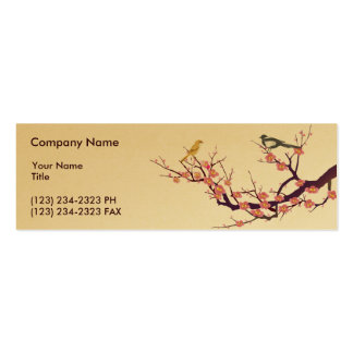 Cherry Blossom Pack Of Skinny Business Cards