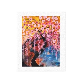 Cherry Blossom Stretched Canvas Print